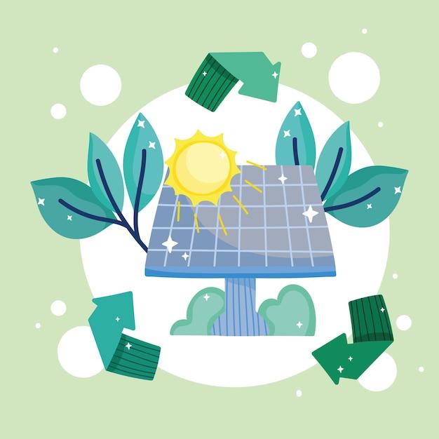 지속 가능한 태양 전지판 에너지