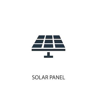 Значок панели солнечных батарей. простая иллюстрация элемента. дизайн символа концепции панели солнечных батарей. может использоваться в интернете и на мобильных устройствах.