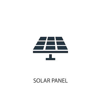 Solar panel icon. simple element illustration. solar panel concept symbol design. can be used for web and mobile.