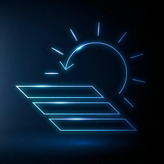 태양 전지 패널 아이콘 벡터 신 재생 에너지 기호