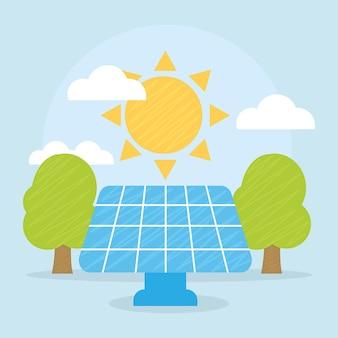Иллюстрация панели солнечных батарей