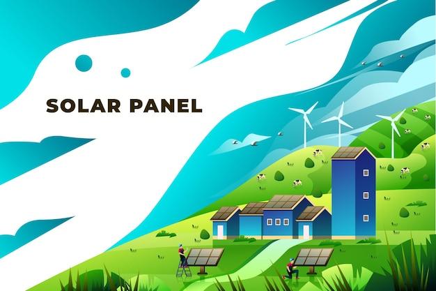 Солнечная панель - векторные иллюстрации