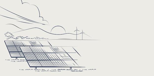 Солнечные батареи и ветряные турбины или альтернативные источники энергии экологическая устойчивая энергия