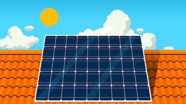 지붕에 태양 전지 패널