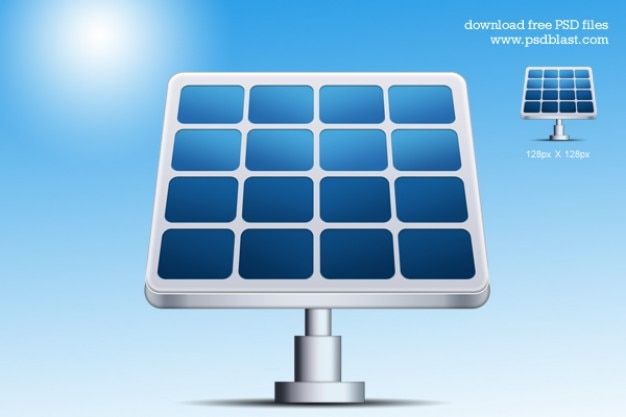 Solar power station vector shape icon