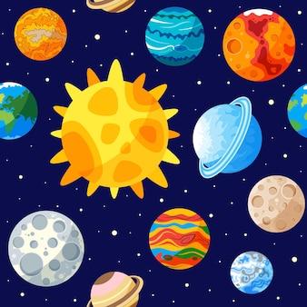 Солнечная система бесшовные модели
