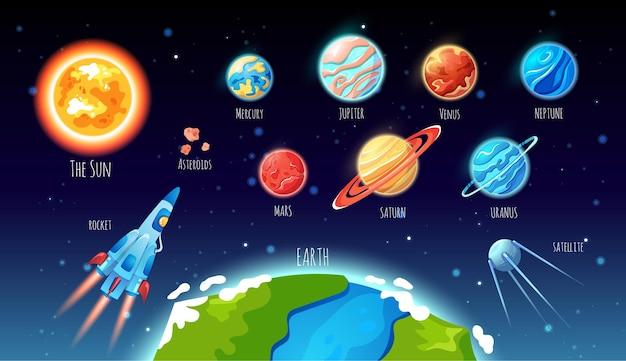 태양계 행성 큰 세트