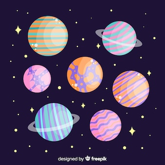 Solar system planets set