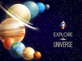 太陽系の現実的な背景
