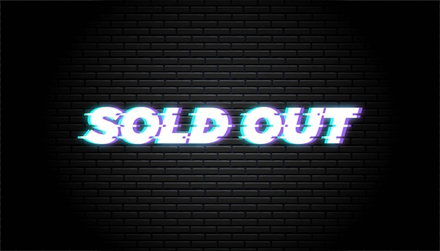 Sold out brick wall template.