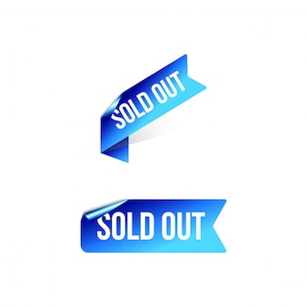 Sold out corner ribbon