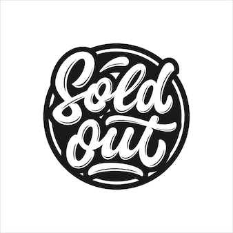 Sold out lettering stamp