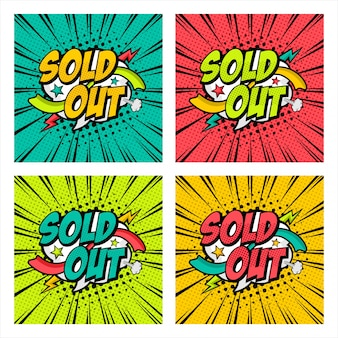 Sold out pop art style   design collection
