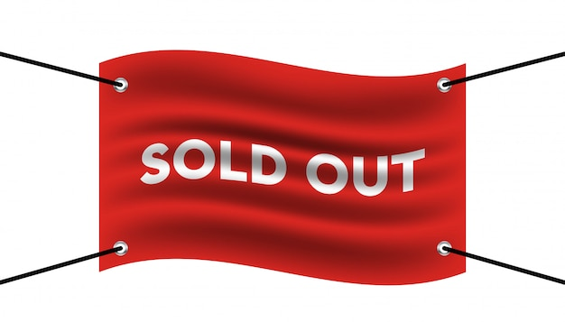 Sold out red flag banner.