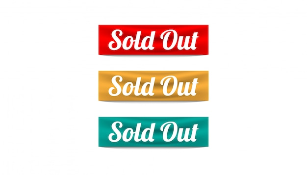 Sold out ribbon set design template.