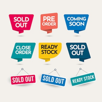 Sold out text design template