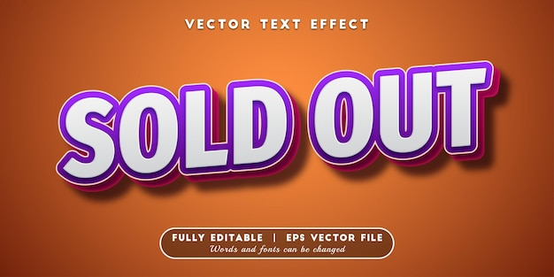 Sold out text effect, editable text style