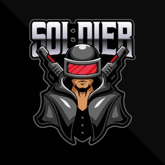 Soldier esport logo gaming