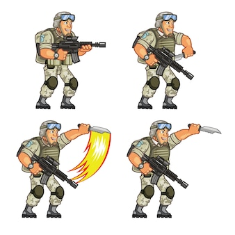 Soldier game character animation