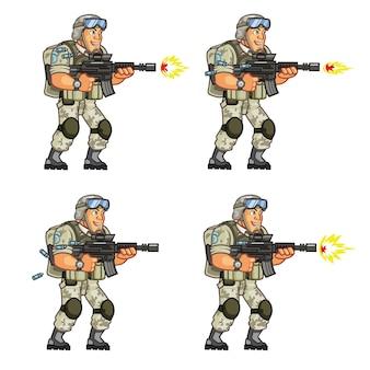 Анимация игрового персонажа воина