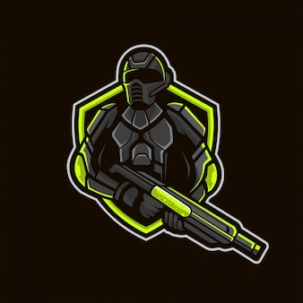 Soldier mascot esport logo