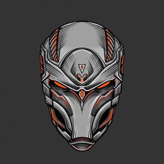 Soldier mask 2 vector illustration