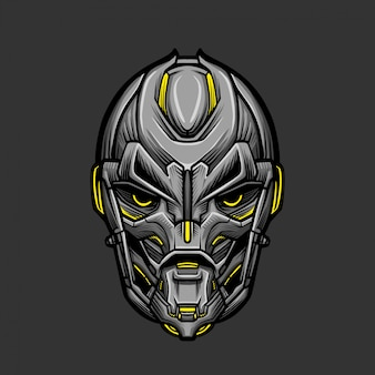 Soldier mask 4 vector illustration