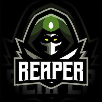 Soldier reaper mascot gaming logo