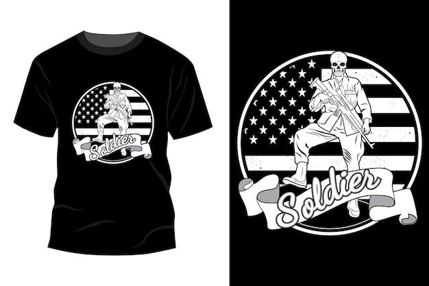 군인 티셔츠 이랑 디자인 실루엣