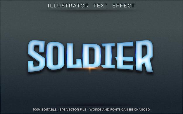 Soldier text effect, editable 3d style text tittle