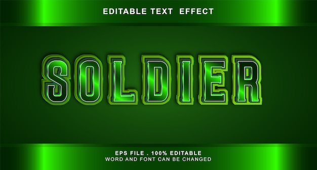 Soldier text effect editable