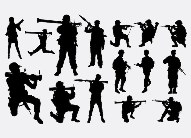 Soldier in war silhouette
