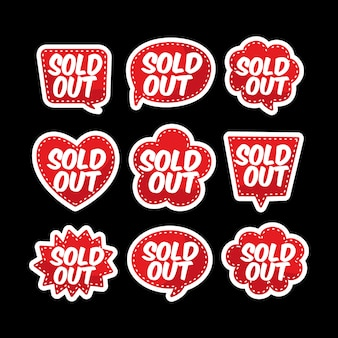 Soldout baloon text   set