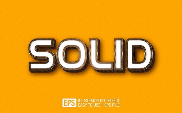 ソリッド3dテキスト編集可能なスタイルの効果テンプレート