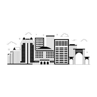Твердая редактируемая иллюстрация ориентира города орландо