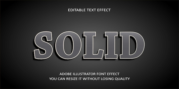 Solid editable text effect