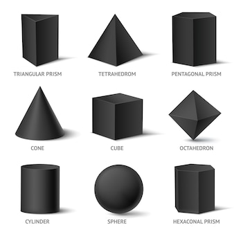 단단한 기하학적 도형 세트