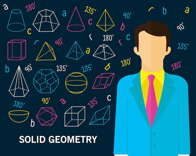 Solid geometry concept background