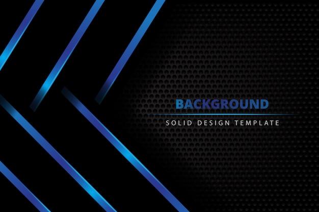 Solid metal blue dark background