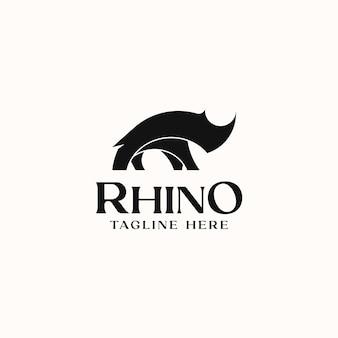 固体rhinoロゴテンプレートロゴ分離