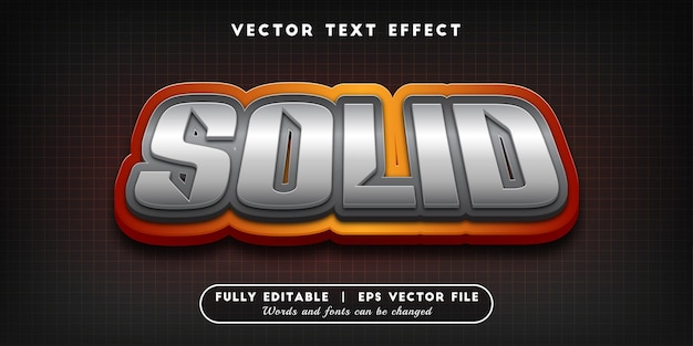 Solid text effect, editable text style