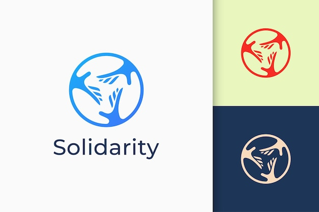 Solidarity or charity logo in simple and modern