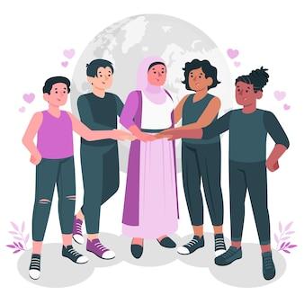 Solidarity concept illustration