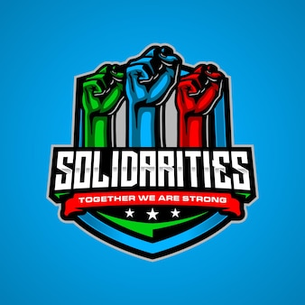 Шаблон логотипа солидарности