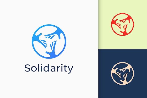 シンプルでモダンな連帯またはチャリティーのロゴ