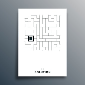 The solution abstract typography design for poster