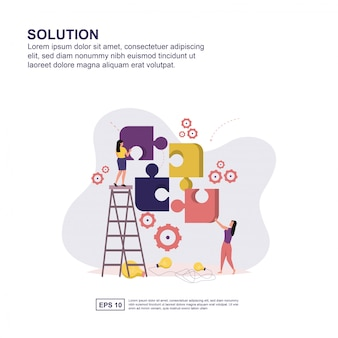 Solution concept flat design for presentation.