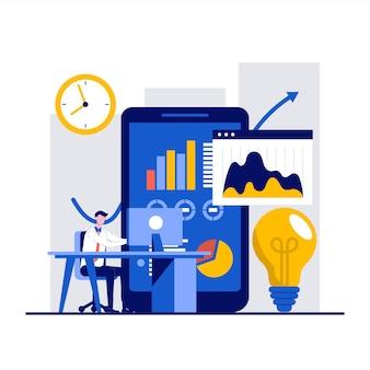 Решение, инновационные концепции решений с характером предпринимателя.