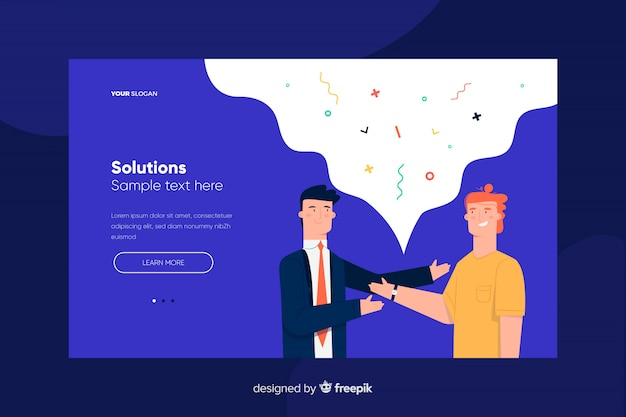Solution landing page