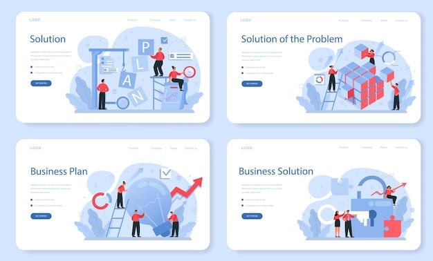 Набор веб-баннера или целевой страницы решения